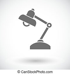 Reading-lamp Single flat icon on white background Vector...