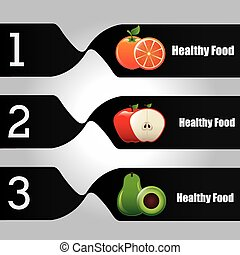 healthy food infographics
