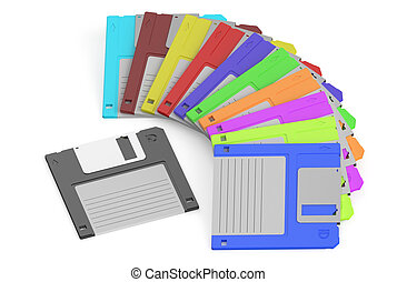 colored floppy disks