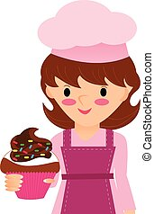 cupcake pastry - Is a EPS Illustrator file
