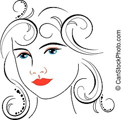woman face drawing - Is a EPS Illustrator file