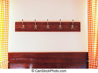 Wall Clothespins - Details of wall clothespins, classical...