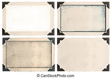 photo frames with corner and empty field