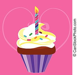 cupcake for birthday - Is a EPS Illustrator file