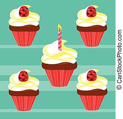 cupcakes for birthday - Is a EPS Illustrator file