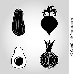 vegetables icons design, vector illustration eps10 graphic