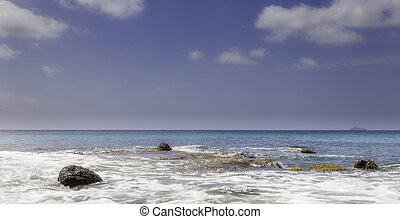 Wide Angle Shot Of Tropical Ocean