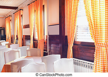 Restaurant Interior - Classical restaurant interior,...
