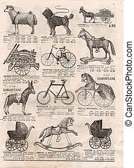 vintage victorian toys collection. antique shoping catalog -...