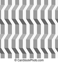 Gray ornament with warping stripes shaded - Seamless stylish...