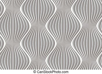 3D vertical striped waves - Seamless geometric background....