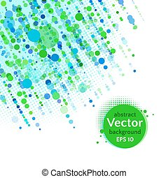 Green background with dots - Vector background with dots and...