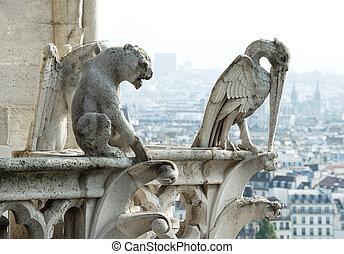 Stone demons from Notre Dame de Paris - Stone demons...