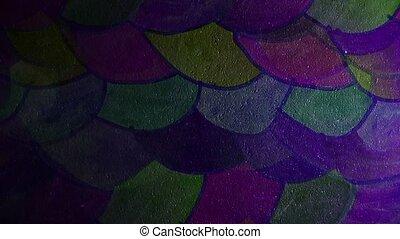 graffiti circle scale colored ornament night light moves...