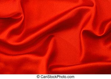 red silk fabric background. satin texture