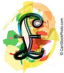 Artistic Pound sign vector illustration