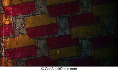 graffiti brick, masonry pattern ornament night light moves...