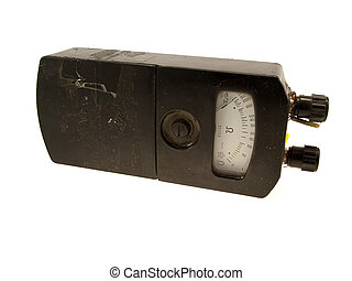 The electric device an ohmmeter isolated on a white...