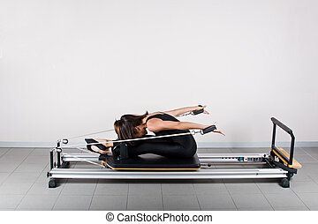 Gymnastics pilates - Back reach seated position. Pilates...