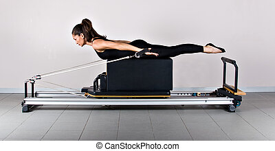 Gymnastics pilates - Extensions on the long box position...