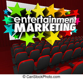 Entertainment Marketing Words Movie Screen Brand Engagement...