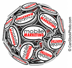 Mobile Marketing Speech Bubbles Mobility Advertising...