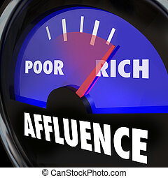 Affluence Gauge Measuring Gap Between Rich Poor People -...