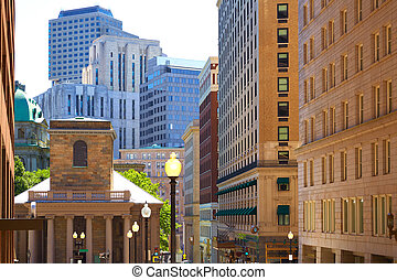 Boston Kings Chapel in Tremont and School street - Boston...