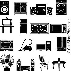 HHome appliance icons set