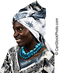 African fashion - Young woman Zimbabwe, wearing different...
