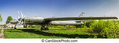 Strategic bomber Tu-95 Bear - Old faulty strategic soviet...