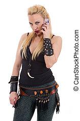 Beautiful sexy blond woman