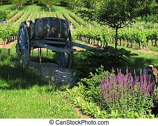 Cart, barrel - Valley of Lot; Perigord, Quercy,...