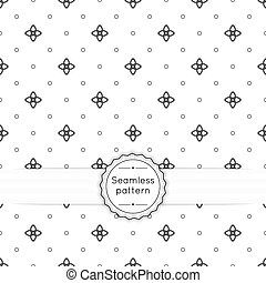 Vector seamless pattern with vintage old banner and ribbon...