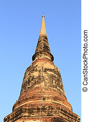 Pagoda at Wat Yai Chaimongkol, Thailand - Pagoda at Wat Yai...