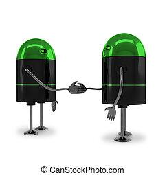 Robots handshaking