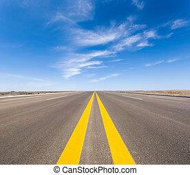 road in the gobi - road in gobi desert in mongolia ,long...