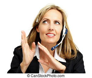 Customer Support Worker - Friendly woman from customer...