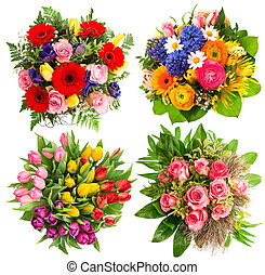 colorful flower bouquets for Birthday, Wedding