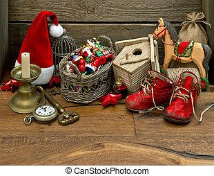 antique nostalgic christmas toys decoration