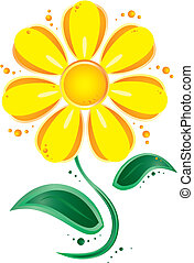 yellow flower - vector