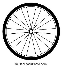 bicycle wheel vector - image of bicycle wheel vector