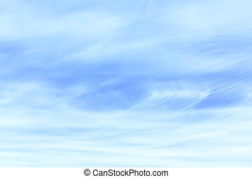 Light blue sky with cirrus clouds - abstract background