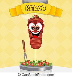 kebab - illustration of kebab