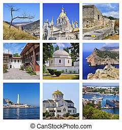Set of Crimea landmarks