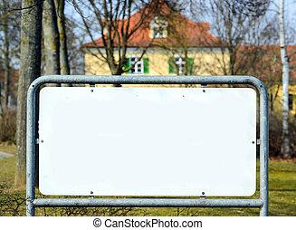 Blank billboard at street
