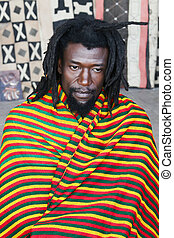Rastafarian portrait - Rastafarian man portrait, people...