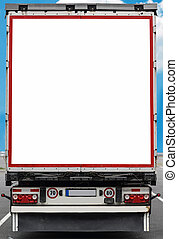 Blank space on back of truck perfect for your advertisement