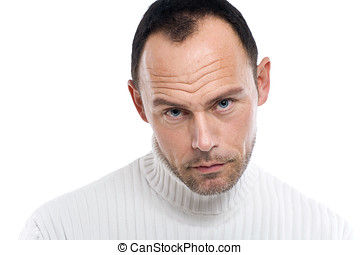 Man On White - Casual man on white background