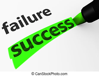 Business Success Vs Failure Concept - Success and business...
